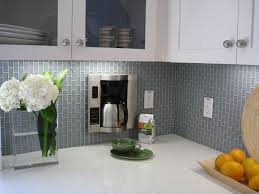 Glass Tiles Backsplash Kitchen Kitchen White Kitchen Cabinets Stainless Steel Backsplash Glass