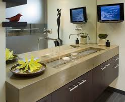 bathroom tv ideas beautiful trough sink fashion modern bathroom inspiration