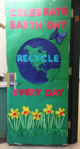 earth day door decoration came out great if i do say so myself
