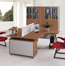 Office Table With Partition Office Decor Ideas Comes With Hardwood Computer Table And White