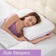 bed pillows for side sleepers biosense 2 shoulder pillow for side sleepers i have mild