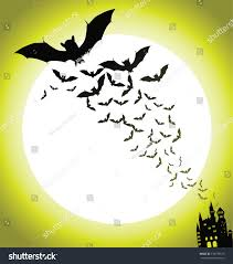 bats haunted house halloween background eps stock vector 149737673