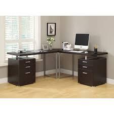 Corner Desk Walmart Monarch L Shaped Desk With Storage Drawers Dark Taupe Decorative