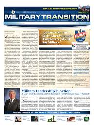 Military To Civilian Resume Builder Military Transition News U2013 May June 2016 Most Valuable Employers