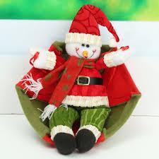 christmas tree santa claus snowman hanging ornament parachute home