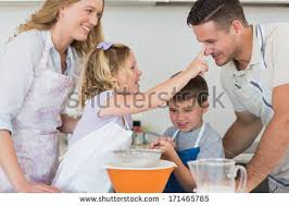 portrait happy family sitting together on stock photo 171463634