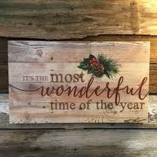 pallet sign rustic pine most wonderful time of the year