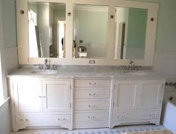 amazing wall mounted white triple bathroom mirror cabinets design