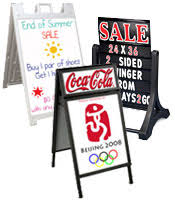 outdoor signage displays exterior message boards