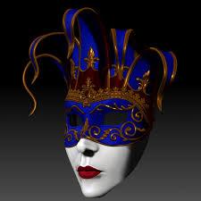 venetian jester mask venetian mask 3d printable model cgtrader