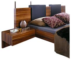 Bed With Attached Nightstands Gap Nightstand Set Of 2 Modern Nightstands And Bedside Tables
