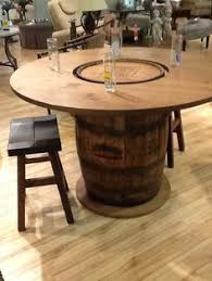 whiskey barrel side table how to build a whiskey barrel coffee table http vid staged com