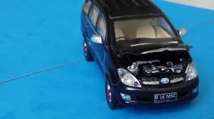 cars toyota black custom toyota innova 2003 black diecast car rims 1 43 youtube