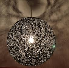 Hanging String Lights From Ceiling by Black Sphere String Light Pendant Ceiling Eco Friendly Lamp 50