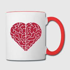 heart shaped mugs lovely heart shaped brain mug spreadshirt