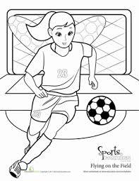soccer fairy coloring activity worksheets kindergarten fairy