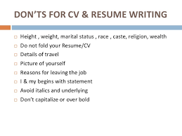 art of resume and cv writing