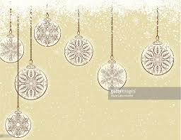 victorian style christmas ornaments on gold background vector art