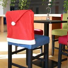 santa chair covers yeduo hort santa claus hat chair covers christmas dinner table