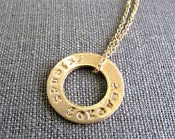 ring necklace with names images Washer necklace etsy jpg