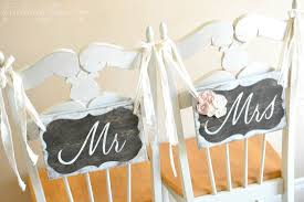 Wedding Chair Signs How To Make Mr U0026 Mrs Chair Signs Rustic Wedding Chic