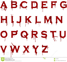 grunge blood alphabet royalty free stock photos image 1983808