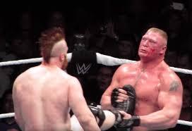 Brock Lesnar Meme - no one makes bork bleed his own blood brock lesnar know your meme
