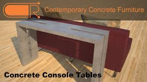 Concrete Console Table Concrete Console Table Hallway Tables Concrete Sofa Table
