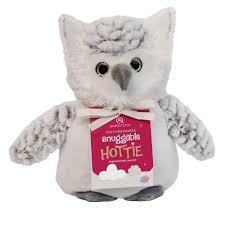 owl item aroma home owl snuggable microwave hottie microwavable soft plush