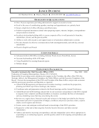 Executive Administrative Assistant Resume Samples by Key Skills For Administrative Assistant Resume Resume For Your