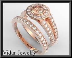yellow gold wedding ring sets gold wedding ring set vidar jewelry unique custom