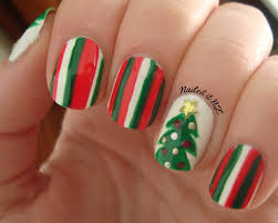 easy christmas nail art for short nails photo album cerene