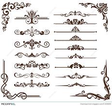 vector vintage ornaments corners borders illustration 51836865