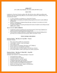 preschool teacher resume example teacher resume sample page 1