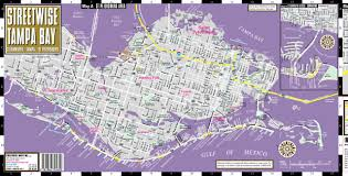 Map Of Tampa Bay Streetwise Tampa Map Laminated City Center Street Map Of Tampa