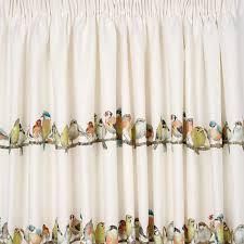 Curtains Birds Theme Garden Birds Pencil Pleat Ready Made Curtains