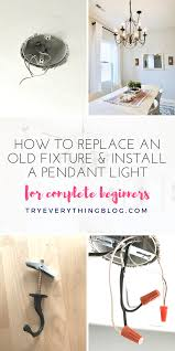 install a pendant light fixture and swag it try everything