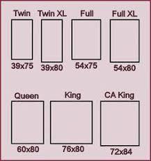 bed measurements mattress sizes chart mattress chart and california king beds