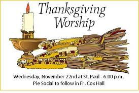 thanksgiving mass pie social paul the apostle parish