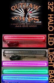 multi color led light bar featured item halo color changing led light bar outlawwhips com