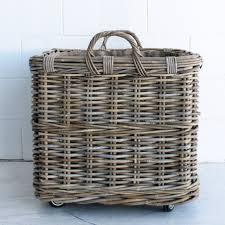 Laundry Hamper Australia by Square Log Basket On Wheels Lrg The Beach Furniture