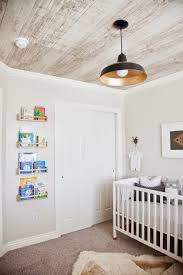 Faux Wood Wallpaper by Design Dump Neutral Masculine Nursery Reveal