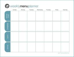 printable menu planner one week planner the peaceful mom like