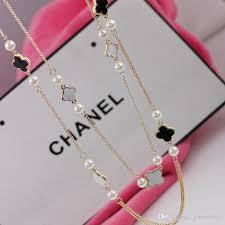 necklace brand images Wholesale popular brand women sweater necklace clover design long jpg