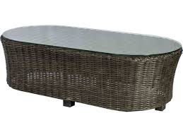 coffe table perfect rattan wicker oval outdoor glass coffee