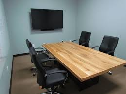 Oak Meeting Table Made White Oak Conference Table With Steel Base By Furniture