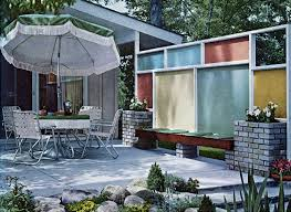Ideas For Backyard Privacy by Garden Design Garden Design With Midcentury Living Wood Privacy