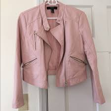 Blush Colored Blouse Bundle Blush Pink Faux Leather Jacket Blouse M From Top 10