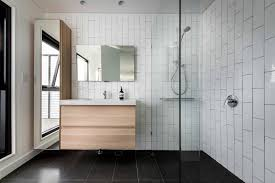elegant white subway tiles bathroom ceramic wood tile