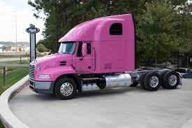 volvo truck tech support mack trucks showcases its support for breast cancer awareness with